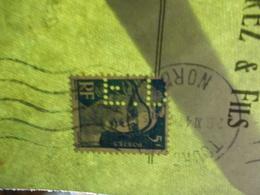 Marcophilie  Cachet Lettre Obliteration - Timbres Perforés ED - Tourcoing 1947 (2323) - Marcophilie (Lettres)