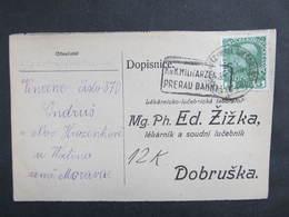 KARTE Bahnpost Zugstempel Gross Karlowitz - Wall. Meseritsch 1916 Zensur////   D*37573 - Briefe U. Dokumente
