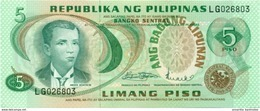 PHILIPPINES 5 PESOS ND (1978) P-160a AU/UNC  [PH1019a] - Philippines