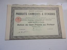 Algérienne De Produits Chimiques & D'engrais (1910) Imprimerie RICHARD - Azioni & Titoli