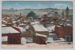 Jerusalem Vue Prise Jour De La Neige - Israele