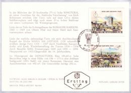 1964 WIPA 1965 (Vors.) FDC Karte (ANK 1196,1197, Mi 1166,1167) - FDC