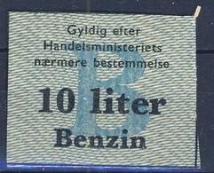 +Denmark 1940-45. Rations Cards. Petrol 10 Liters. - Monnaies & Billets