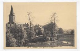 HIRSON - N° 35 - PAYSAGE SUR L' OISE - Ed. LUCIEN POLLET A LILLE - CPA NON VOYAGEE - Hirson