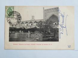 C. P. A. OUZBEKISTAN : KOKAND : Medressé, Le Marché, Timbre En 1905 - Ouzbékistan