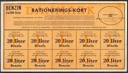 +P329. Denmark 1940-45. Rations Cards. Petrol 20 Liters. - Monnaies & Billets