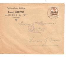 SJ113/ TP Oc 15 S/L.Entête Ernest Gantois Fonderie  C.Marchienne-Au-pont 1917 Censure Charleroi V.Merxem C.d'arrivée - Guerra '14-'18