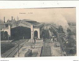 18 VIERZON LA GARE AVEC TRAIN CPA BON ETAT - Bahnhöfe Mit Zügen
