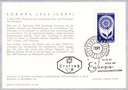 Europa 1964 - Stilisierte Blume FDCKarte (ANK 1203, Mi 1173) - FDC