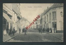 VILVORDE. La Rue De Flandre. Belle Animation, Charrette; Edition Bertels. Circulé.  2 Scans - Vilvoorde
