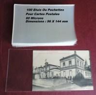 100 Etuis Ou Pochettes Pour Cpa - 60 Microns Cartes Postales - Matériel