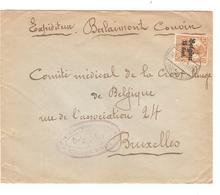 SJ11/ TP Oc 15 S/L.Expéditeur Berlaimont  C.Couvin 1917 Censure Charleroi V.BXL - WW I