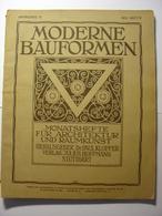 MODERNE BAUFORMEN - REVUE ALLEMANDE D' ARCHITECTURE - N°9 De 1910 Très Illustrée Belle Facture Très Nombreuses Planches - Revues & Journaux