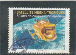 FRANCE YT 4946 INDE SATELLITE MEGHA TROPIQUES 50 ANS DE COOPERATION SPATIALE OBLITERE 2015 - Frankreich