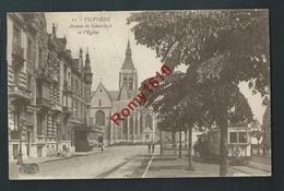 VILVORDE.  Avenue De Schaerbeck.  Eglise, TRAM, Animée.  1923. 2 Scans - Vilvoorde