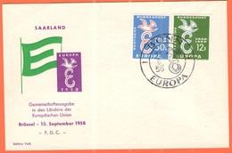 GERMANIA - GERMANY - Deutschland - ALLEMAGNE - 1958 - Europa Cept - Saar - Saarland - FDC - Bonn - Europa-CEPT