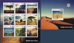 LIBERIA 5418/26 Et Bf 666 Kilimandjaro, Pont, Parcs Naturels, Désert Du Namib - Géologie