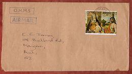 Luftpost, Weihnachten Zusammendruck, Aitutaki Cook Islands Nach Auckland 1975 (71886) - Aitutaki