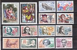 France 1963 1368 1403 Année Poste Neuf ** TB MNH SiN CHARNELa Cote 35 - France