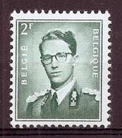 BELGIE Boudewijn Bril * Nr 1066 * Postfris Xx * WIT PAPIER - 1953-1972 Lunettes