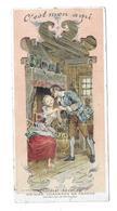 """CHROMO Chocolat REVILLON.. Vieilles Chansons De France..""""C'est Mon Ami"""" ..illus. Maurice LELOIR...2 Scans - Revillon"""