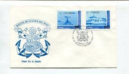 MARINA DE GUERRA DEL PERU. PERU 1990. ENVELOPE FDC, SOBRE DIA DE EMISION - LILHU - Perú