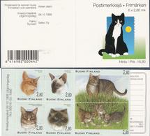 Finland 1995 Cats Mi 1310-1315  In MH 40 MNH(**) - Finlande