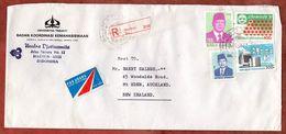 Luftpost, Einschreiben Reco, Chemie-Kongress U.a., Madiun Nach Auckland 1992 (71889) - Indonesia