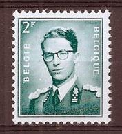 BELGIE Boudewijn Bril * Nr 1066 P3a * Postfris Xx * FLUOR  PAPIER - 1953-1972 Lunettes