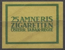 AMNERIS TABAK REGIE - AUSTRIA - CIGARETTE Cigarette - Label Vignette - Labels