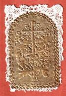 Sainte EUGENIE. Image Dentelle Canivet -  Volet Doré Ouvrant Sur La Sainte - Images Religieuses