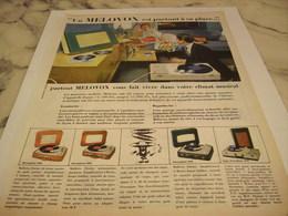 ANCIENNE PUBLICITE CLIMAT MUSICAL VALISE DE MELOVOX 1958 - Autres