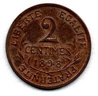 Dupuis -  2 Centimes 1898   -  état  TTB+ - B. 2 Centimes
