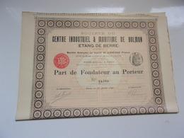 CENTRE INDUSTRIEL & MARITIME DE BOLMON (étang De Berre) 1895 - Actions & Titres
