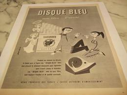 ANCIENNE PUBLICITE FILTRE AVEC PURETE CIGARETTE GAULOISE DISQUE BLEU   1958 - Sonstige