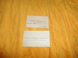 LOT DE 2 CARTES DE VISITE / DOMINIQUE ALLARD DE VILLERMONT COMPOSITEUR, EUGENE LORBER PRESIDENT GENERAL DE L'ORPHELINAT - Visitenkarten