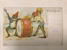 AK  FROG  FROGS  FROSCHE   LA GRENOUILLE  LITHO  CIRCUS   ZIRKUS  PRE-1904 - Tierwelt & Fauna