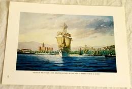 Sheet Taken From A Book - Esteban Arriaga, Departure From Málaga By Juan Sebastian Elcano / 1986 - 15x21cm - Arte