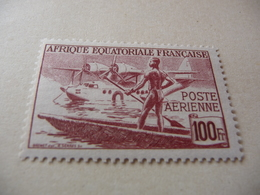 TIMBRE  AEF    POSTE  AÉRIENNE   N  42       COTE 1,10  EUROS    NEUF  SANS  CHARNIÈRE - A.E.F. (1936-1958)