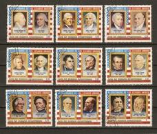 Guinée Equatoriale 1976 - Bicentenaire Des USA - Présidents Américains - Série Complète° Mi A599/A616 - Equatorial Guinea
