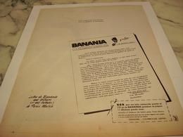 ANCIENNE PUBLICITE LETTRE DE  BANANIA  1958 - Affiches