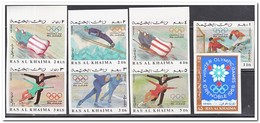 Rass Al Khaima 1967, Postfris MNH, Olympic Winter Games - Ra's Al-Chaima