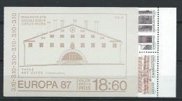 Suède 1987 Carnet C1411 Neuf Europa Architecture - Carnets