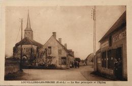 LOUVILLIERS LES PERCHES - La Rue Principale Et L'Église - Autres Communes