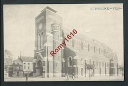 RUYSBROECK. (Sint-Pieters-Leeuw) L'Eglise. Petite Animation. Voyagée En 1912.  2 Scans. - Sint-Pieters-Leeuw