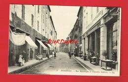 30 Gard BESSEGES Rue De La République Et Nouvelles Galeries - Bessèges