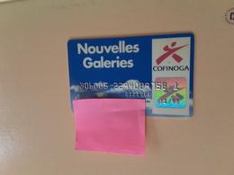 Carte Fidélité  Nouvelles Galeries Cofinoga - Geldkarten (Ablauf Min. 10 Jahre)