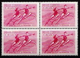 Brazil MNH Stamp In Block Of 4 - Gymnastics