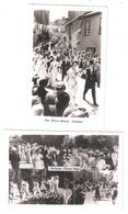 2 TWO RP HELSTON POSTCARDS ONE PLAIN BACK FURRY DANCE FLORA DAY BOTH UNUSED - England