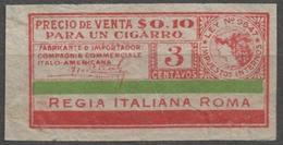 ARGENTINA 1930's CIGARETTE Tobacco Label Vignette Revenue Tax Seal Duty Minerva Greek Mythology ITALY Roma - Tabac